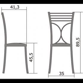 Кухонный стул Б-205 металлик, кожзам, оранжевый