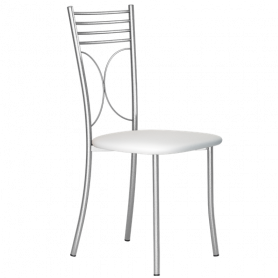 Кухонный стул Б-205 металлик, кожзам, белый мрамор