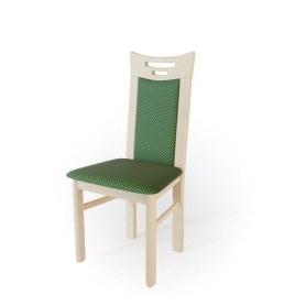 Кухонный стул  Юля Выбеленный бук/ткань Жаккард зеленый