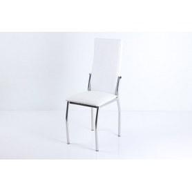 Стул В-610 СТ хром люкс/крок белый мат