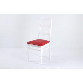 Стул В-620 белый/крок красный матовый