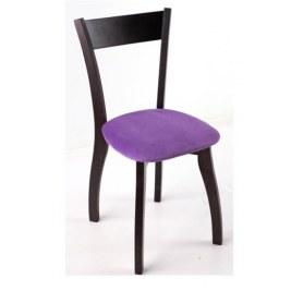 Стул Лугано каркас массив венге, велюр -  инфинити фиолетовый