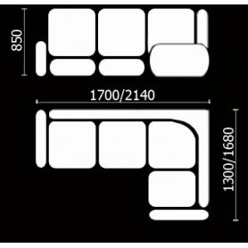 Кухонный угловой диван Нео КМ-02 (210х168 см.)