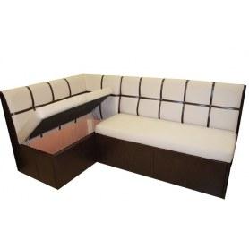 Кухонный угловой диван Квадро 5 со спальным местом