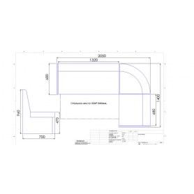 Кухонный угловой диван Модерн 2 с механизмом