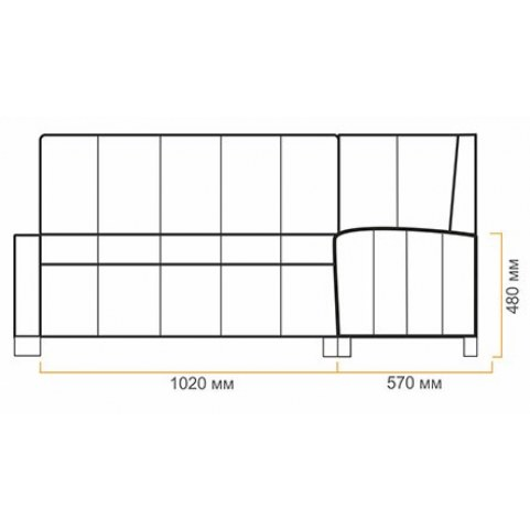 Кухонный угловой диван Валенсия 1 без спального места