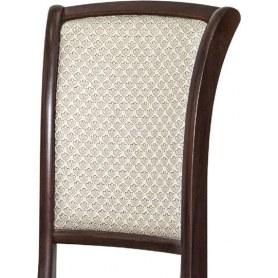Обеденная группа: Стол Портофино 2, рис0 венге стекло (ноги дерево), стулья Кабриоль коньяк/Т21