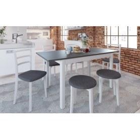 Обеденная группа: стол Антила Plus, стулья Мейсса, табуреты Сириус