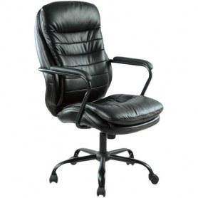 Офисное кресло для руководителя Easy Chair 559 TPU черное (искусственная кожа/металл)