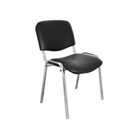 Офисный стул ИЗО хром/черный (кож/зам)