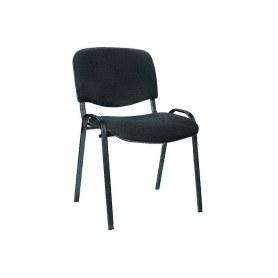 Офисный стул ИЗО черный/черный (кож/зам)