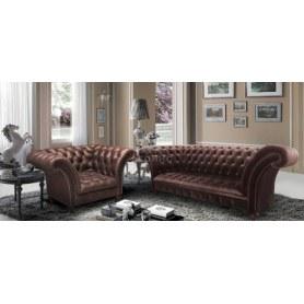 Прямой диван Честерфилд