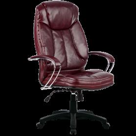 Офисное кресло Lux LK-12 Pl, кожа, бордовый