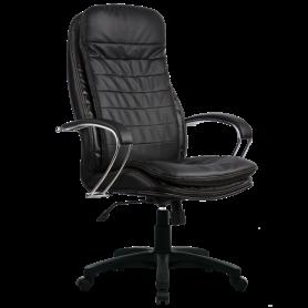 Офисное кресло Lux LK-3 Pl, кожа, черный