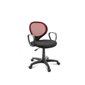 Офисное кресло Dikline KD30 черный/бордо