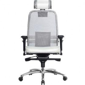 Офисное кресло Samurai SL-3.03, белый лебедь