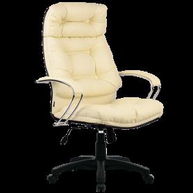 Офисное кресло Lux LK-14 Pl, кожа, бежевый