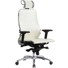 Офисное кресло Samurai K-3.04, белый лебедь