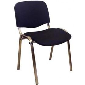 Офисный стул ИЗО каркас хром, черная ткань
