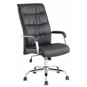 Офисное кресло J 9094 экокожа /хром, черный