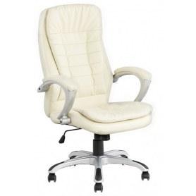 Офисное кресло J 9031  экокожа / пластик (слоновая кость)