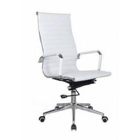 Офисное кресло В108 Кресло экокожа / хром, White ( белый)