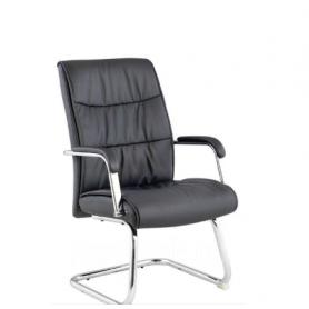 Офисное кресло Кресло J 7094 экокожа черная/хром