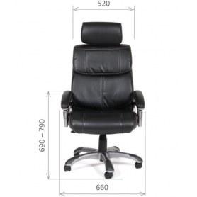 Кресло CHAIRMAN 433 Экокожа премиум черная