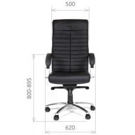Кресло CHAIRMAN 480 Экокожа премиум черная