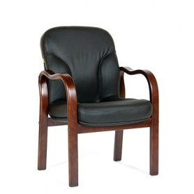 Кресло CHAIRMAN 658 Натуральная кожа черный