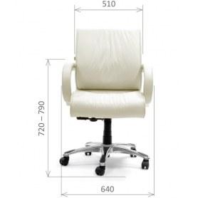 Кресло CHAIRMAN 444 кожа белая
