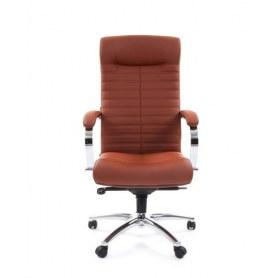 Кресло CHAIRMAN 480 Экокожа Terra 111 (коричневая)