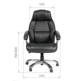 Кресла CHAIRMAN 436 кожа черная
