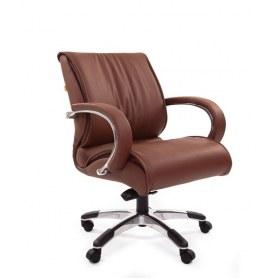 Кресло CHAIRMAN 444 кожа коричневая