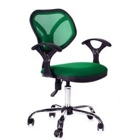 Кресло CHAIRMAN 380 акрил зеленый/ткань TW-18 зеленая