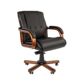 Кресло CHAIRMAN 653M кожа черная