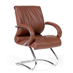 Кресло CHAIRMAN 445 кожа коричневая