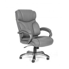 Кресло CHAIRMAN 435 кожа серая