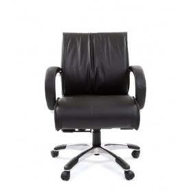 Кресло CHAIRMAN 444 кожа черная