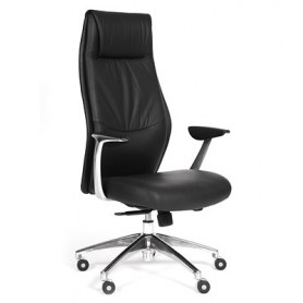 Кресло CHAIRMAN Vista Экокожа премиум черная