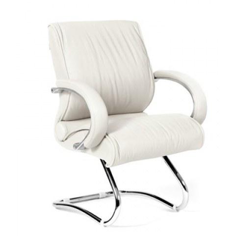 Кресло CHAIRMAN 445 кожа белая