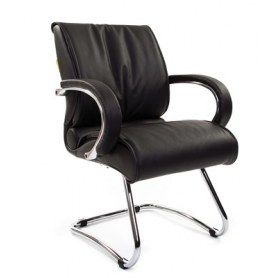 Кресло CHAIRMAN 445 кожа черная