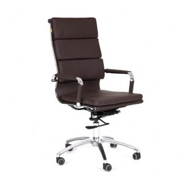 Офисное кресло CHAIRMAN 750 экокожа коричневая