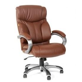 Кресло CHAIRMAN 435 кожа коричневая