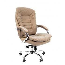 Офисное кресло CHAIRMAN 795 кожа, цвет белый