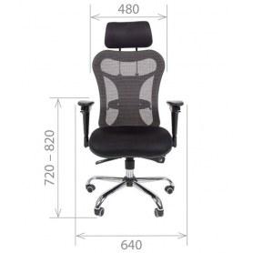 Офисное кресло CHAIRMAN 769, ткань TW 11, цвет черный