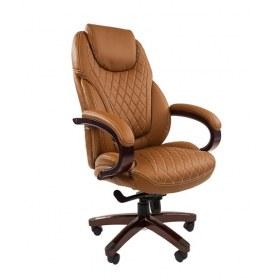 Офисное кресло CHAIRMAN 406, коричневый