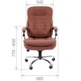 Офисное кресло CHAIRMAN 795 экокожа, цвет коричневый