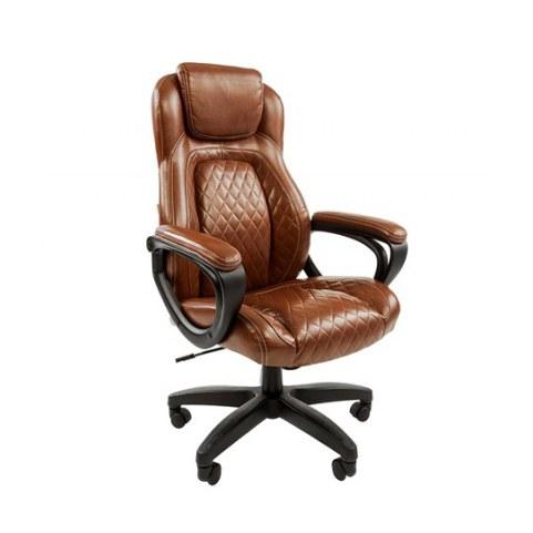 Офисное кресло CHAIRMAN 432, экокожа, цвет коричневый