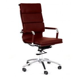 Офисное кресло 750 экокожа бордовая